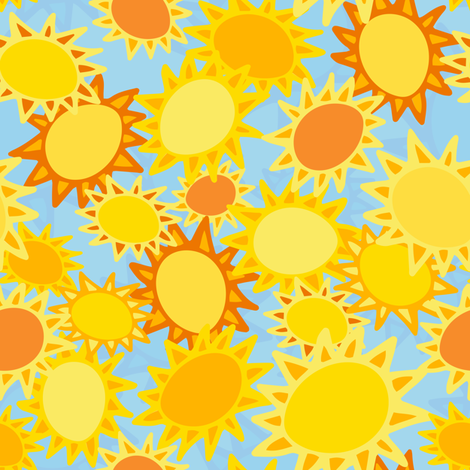 U R My Sunshine: Happy Dreams  fabric by cleolovescolor on Spoonflower - custom fabric