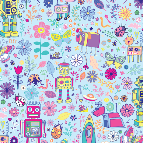 Electric Dreams fabric by cecca on Spoonflower - custom fabric