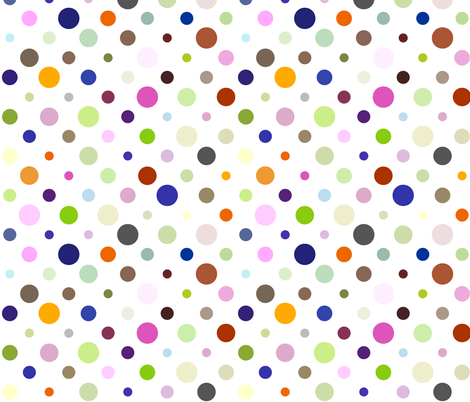 Party Dots Random fabric by zuzana_licko on Spoonflower - custom fabric