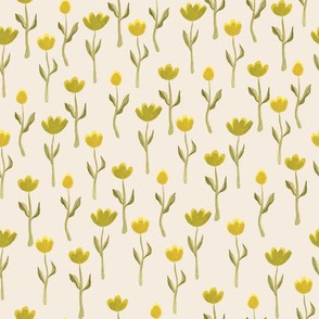 Up North floral flowers in cream