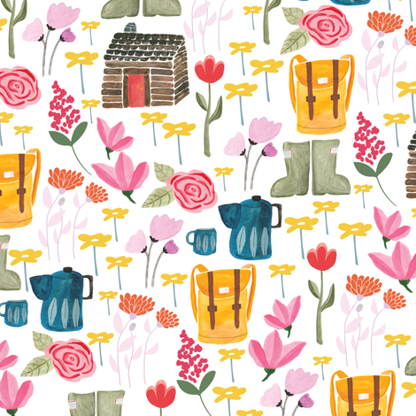 Cabin life fabric by thislittlestreet on Spoonflower - custom fabric