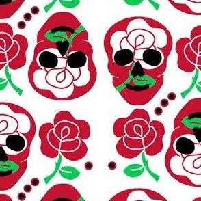 England rose skulls