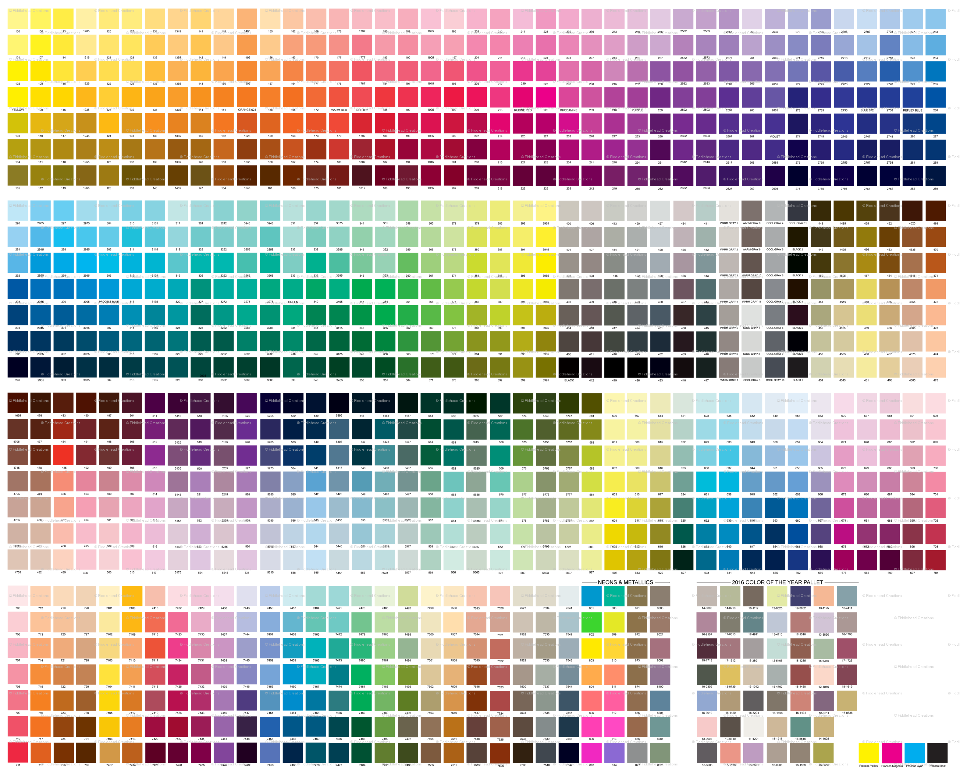 Pantone coated color guide fabric fiddleheadcreations spoonflower nvjuhfo Images