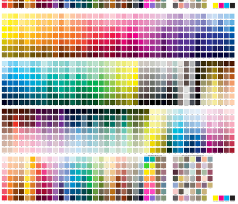 Pantone Coated Color Guide fabric by fiddlehead_creations on Spoonflower - custom fabric