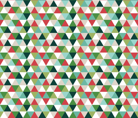 Christmas Triangles fabric by ivieclothco on Spoonflower - custom fabric