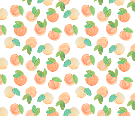 true sweet peach fabric by ivieclothco on Spoonflower - custom fabric