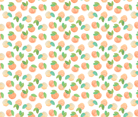true sweet peach // medium fabric by ivieclothco on Spoonflower - custom fabric