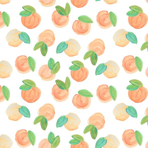 Peaches Fabric Wallpaper Home Decor Spoonflower