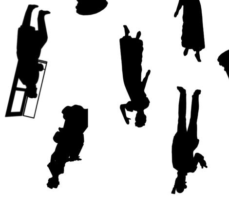 Pride & Prejudice | Jane Austen | Main Characters (no background) fabric by verbenacrafts on Spoonflower - custom fabric