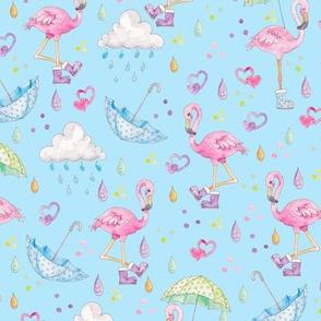 Rainy Flamingo