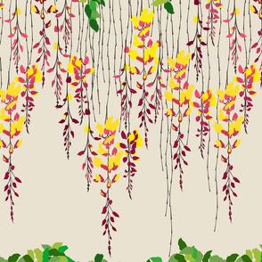 Blossom Vines - Sandstone