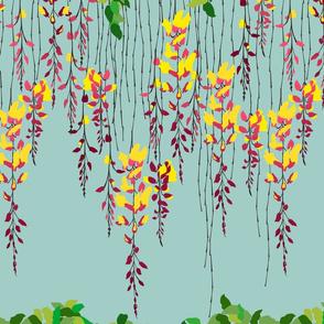 Blossom Vines - Sinbad Blue