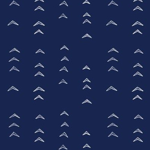 Arrow Navy and White