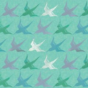 Seabird Dreaming - Pastels