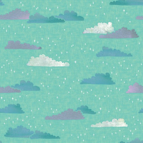 A Wish on Clouds and Stars - Pastels