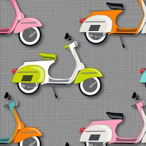 Vespas Galore *Multi on Gray