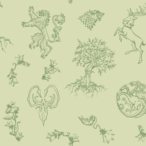 GoT Green fabric by julieprescesky on Spoonflower - custom fabric