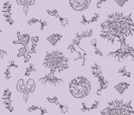 GoT Purple fabric by julieprescesky on Spoonflower - custom fabric