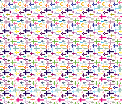 Crosses fabric by kellyrenay on Spoonflower - custom fabric