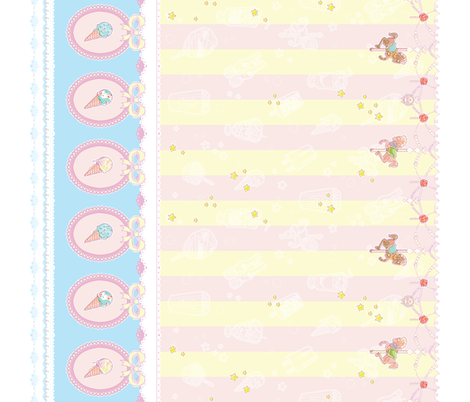 Early Summer Seaside Carnival fabric by bitmapdreams on Spoonflower - custom fabric