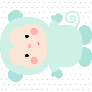 monkey mint front mod baby » plush + pillows // one yard