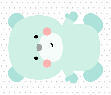 bear mint front mod baby » plush + pillows // one yard fabric by misstiina on Spoonflower - custom fabric