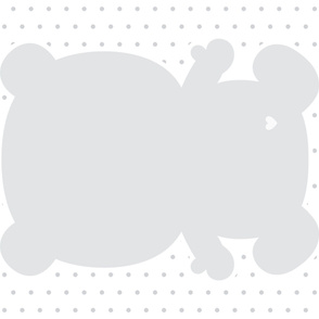 bear grey back mod baby » plush + pillows // one yard