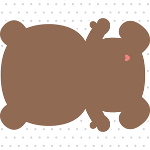 bear brown back mod baby » plush + pillows // one yard