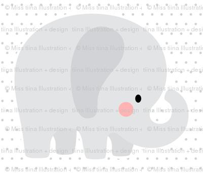elephant grey front mod baby » plush + pillows // one yard