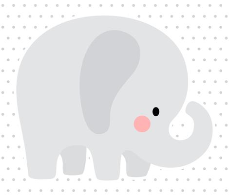 elephant grey front mod baby » plush + pillows // one yard fabric by misstiina on Spoonflower - custom fabric