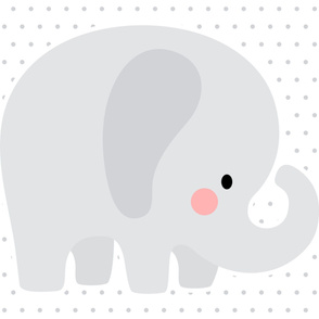 elephant grey front mod baby » plush + pillows // one yard