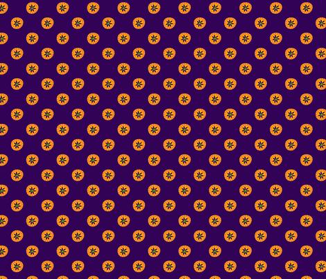 Boho Polkadots Purple Yellow fabric by lenazembrowskij on Spoonflower - custom fabric