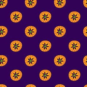Boho Polkadots Purple Yellow