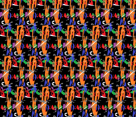 Orange Swirl fabric by abstractionsbyronda on Spoonflower - custom fabric