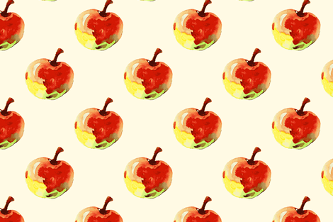 Watercolor apples fabric by magic_pencil on Spoonflower - custom fabric