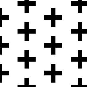 Black and white crosses