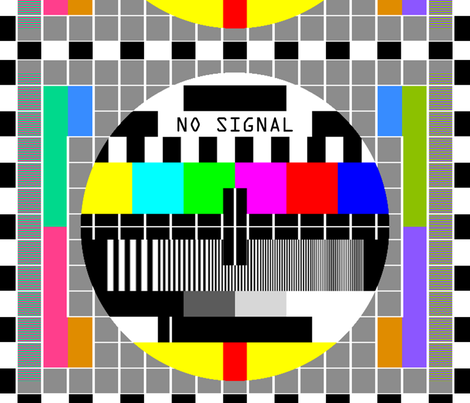 tv television test cards patterns rainbow multi colors colorful signals PM5544 PAL analogue retro tuning reception resolution antenna broadcast pop art media video  transmission fabric by raveneve on Spoonflower - custom fabric