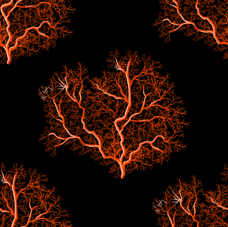 Fire tree corals fabric by magic_pencil on Spoonflower - custom fabric