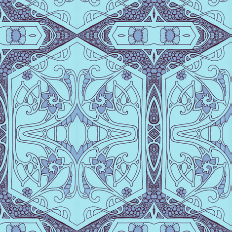 Twilight Turns the World Blue fabric by edsel2084 on Spoonflower - custom fabric