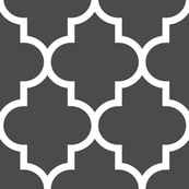 quatrefoil XL dark grey