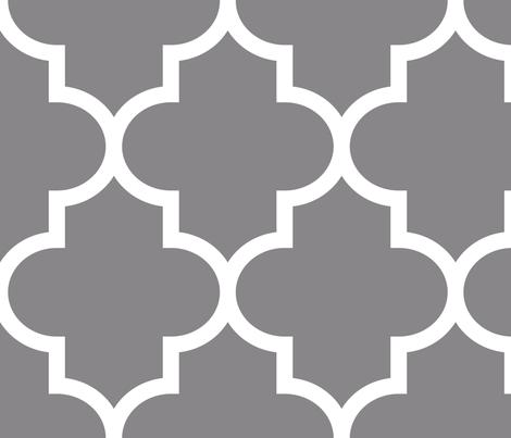 quatrefoil XL granite grey fabric by misstiina on Spoonflower - custom fabric