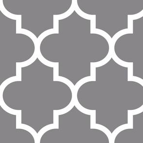 quatrefoil XL granite grey