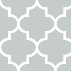 quatrefoil XL sterling grey