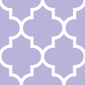 quatrefoil XL light purple