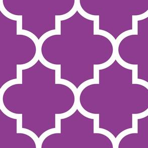 quatrefoil XL grape