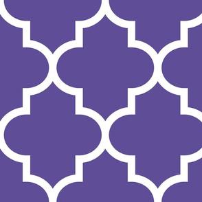 quatrefoil XL purple