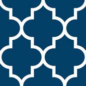 quatrefoil XL navy blue