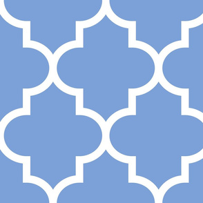 quatrefoil XL cornflower blue
