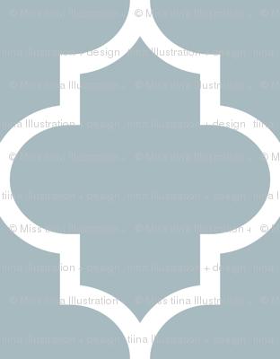 quatrefoil XL slate blue