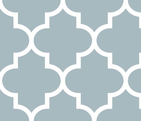 quatrefoil XL slate blue fabric by misstiina on Spoonflower - custom fabric